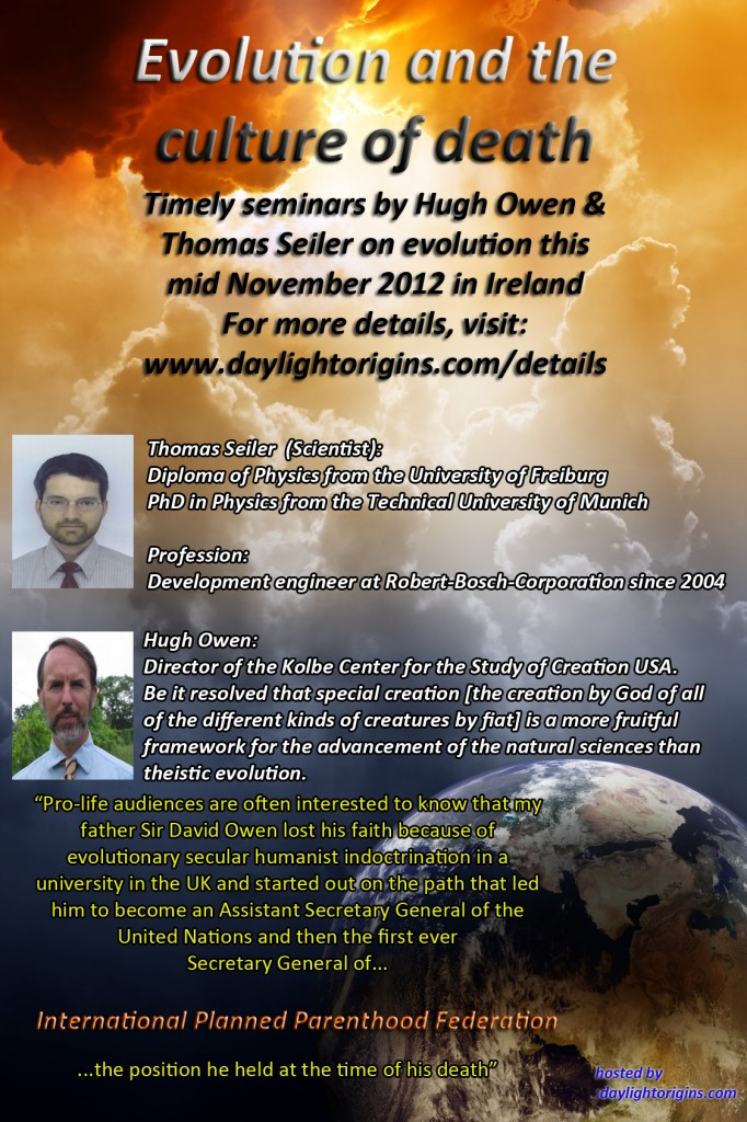 Seminar on Evolution and the Culture of Death