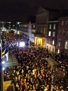 Pro life vigil in Dublin